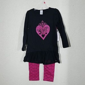 Other - NWT Girls Love pink and black outfit